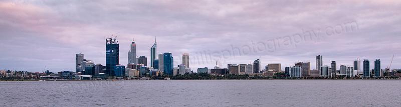 Perth and the Swan River at Sunrise, 13th November 2011