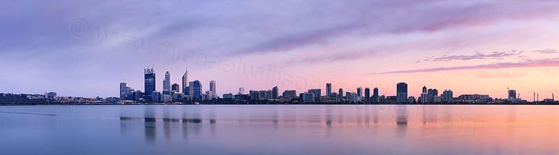 Perth and the Swan River at Sunrise, 16th November 2011