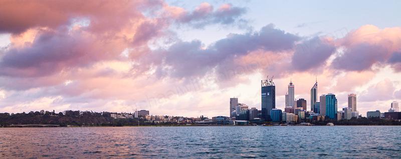 Perth and the Swan River at Sunrise, 17th November 2011