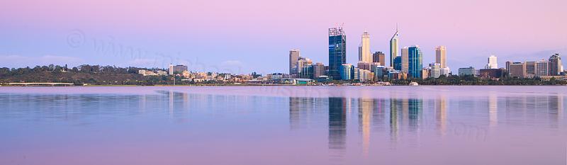 Perth and the Swan River at Sunrise, 18th November 2011