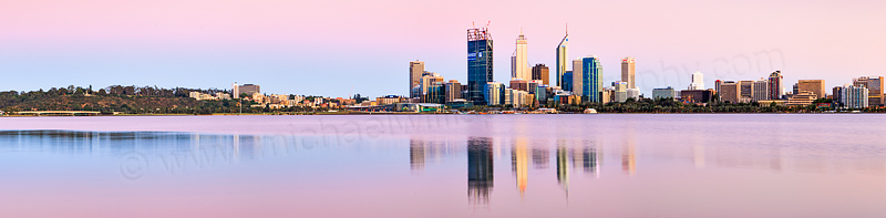 Perth and the Swan River at Sunrise, 19th November 2011