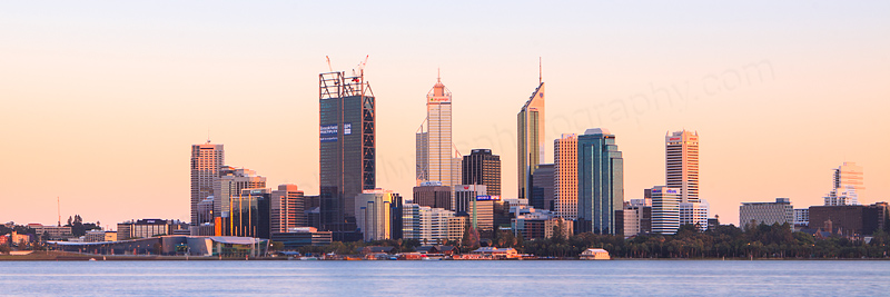 Perth and the Swan River at Sunrise, 20th November 2011