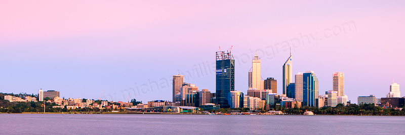 Perth and the Swan River at Sunrise, 21st November 2011