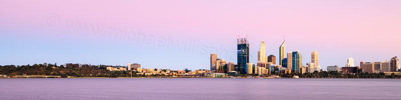 Perth and the Swan River at Sunrise, 22nd November 2011