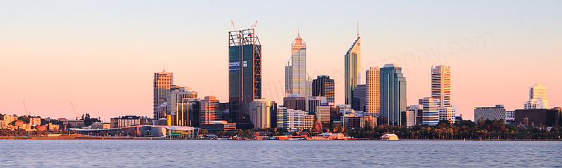 Perth and the Swan River at Sunrise, 23rd November 2011