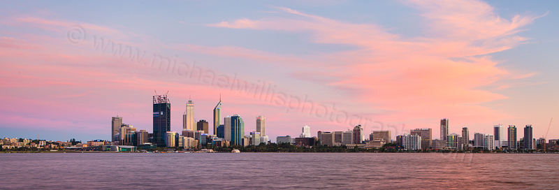 Perth and the Swan River at Sunrise, 24th November 2011