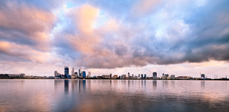 Perth and the Swan River at Sunrise, 25th November 2011