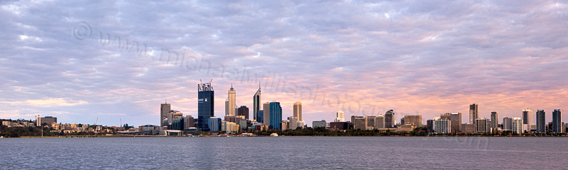 Perth and the Swan River at Sunrise, 27th November 2011