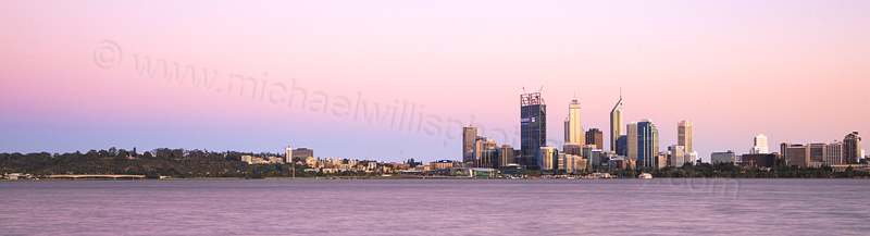 Perth and the Swan River at Sunrise, 30th November 2011