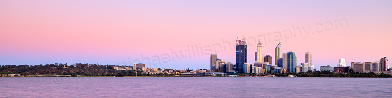 Perth and the Swan River at Sunrise, 2nd December 2011