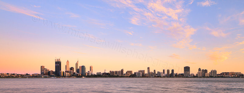 Perth and the Swan River at Sunrise, 3rd December 2011