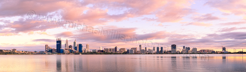 Perth and the Swan River at Sunrise, 7th December 2011