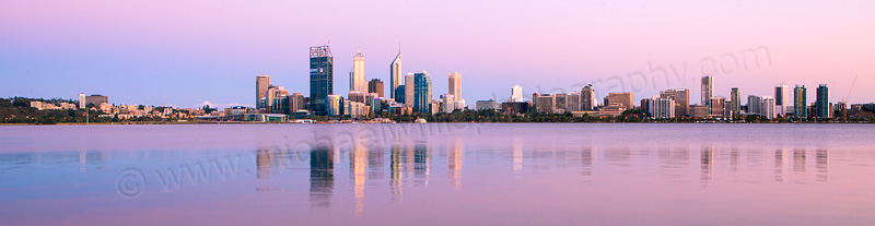 Perth and the Swan River at Sunrise, 8th December 2011