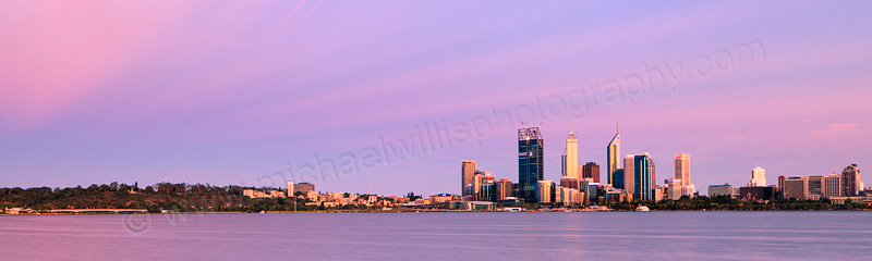 Perth and the Swan River at Sunrise, 10th December 2011