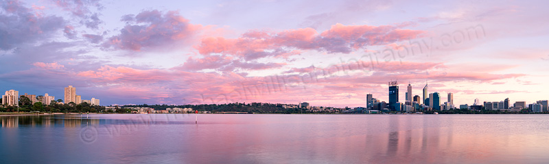 Perth and the Swan River at Sunrise, 13th December 2011