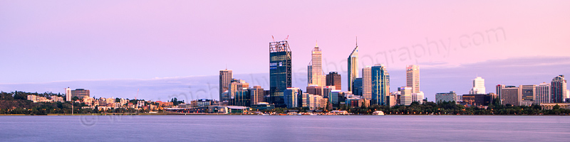 Perth and the Swan River at Sunrise, 15th December 2011
