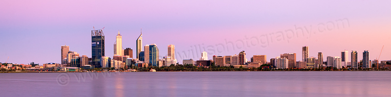 Perth and the Swan River at Sunrise, 16th December 2011