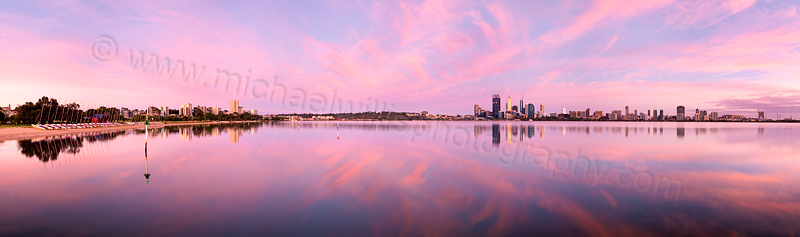 Perth and the Swan River at Sunrise, 19th December 2011