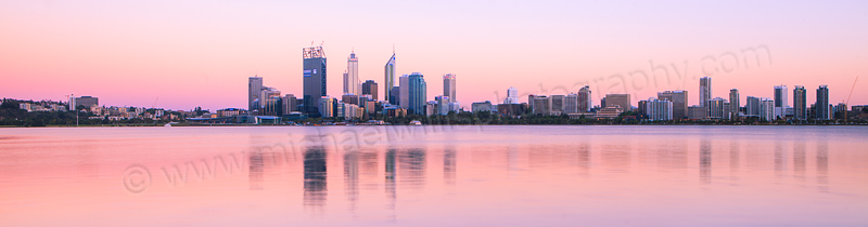 Perth and the Swan River at Sunrise, 22nd December 2011
