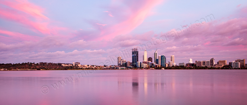 Perth and the Swan River at Sunrise, 23rd December 2011