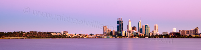 Perth and the Swan River at Sunrise, 24th December 2011