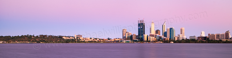 Perth and the Swan River at Sunrise, 26th December 2011