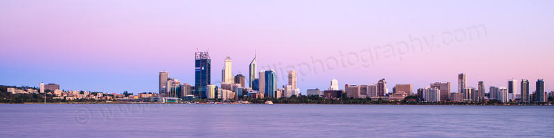 Perth and the Swan River at Sunrise, 27th December 2011