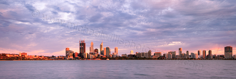 Perth and the Swan River at Sunrise, 28th December 2011