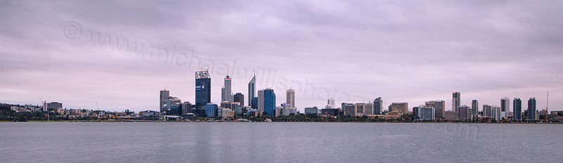 Perth and the Swan River at Sunrise, 1st January 2012