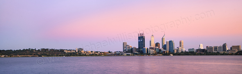 Perth and the Swan River at Sunrise, 3rd January 2012