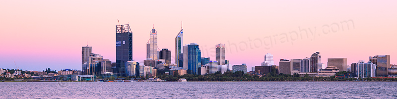 Perth and the Swan River at Sunrise, 14th January 2012