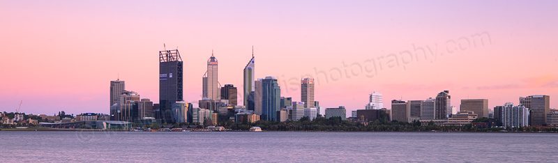 Perth and the Swan River at Sunrise, 17th January 2012
