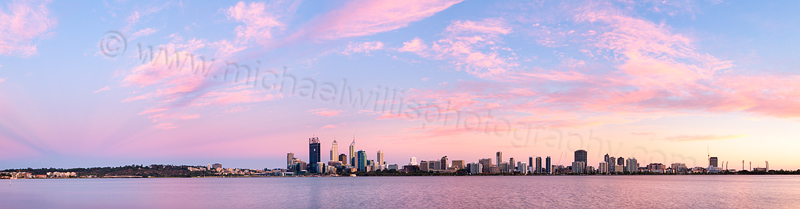 Perth and the Swan River at Sunrise, 23rd January 2012