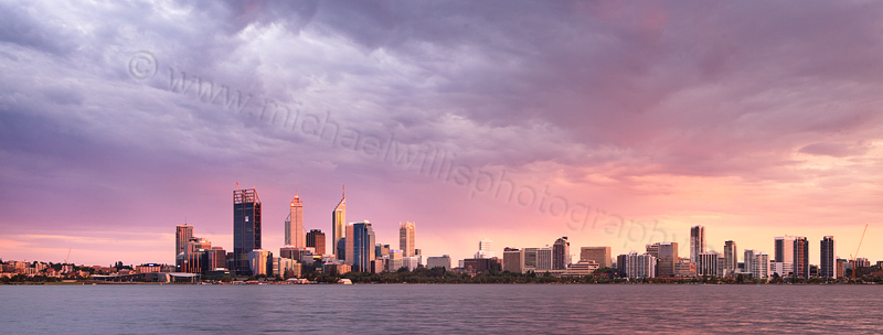 Perth and the Swan River at Sunrise, 28th January 2012