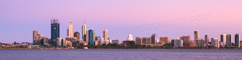 Perth and the Swan River at Sunrise, 30th January 2012