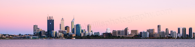 Perth and the Swan River at Sunrise, 6th February 2012
