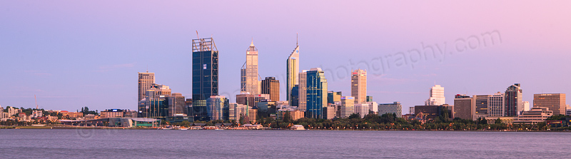Perth and the Swan River at Sunrise, 8th February 2012