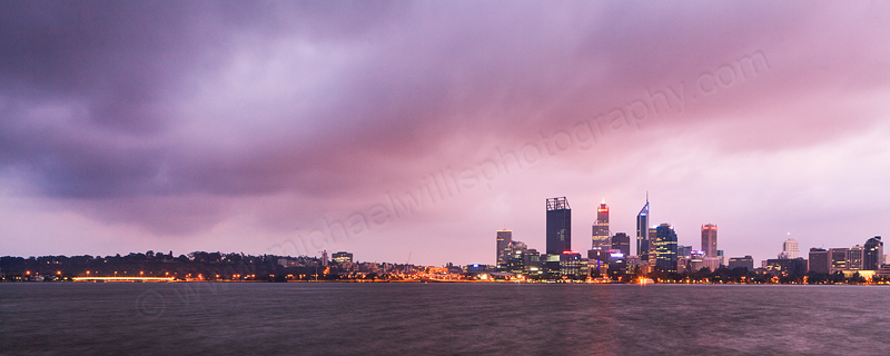 Perth and the Swan River at Sunrise, 23rd February 2012