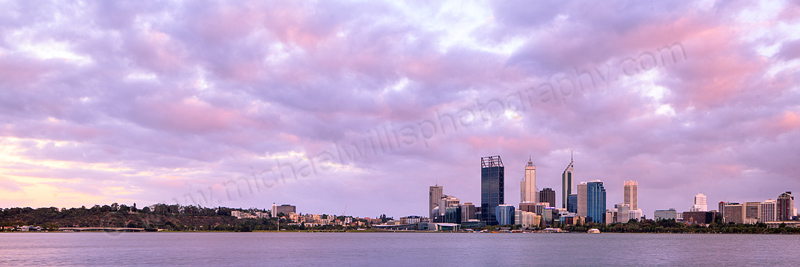 Perth and the Swan River at Sunrise, 24th February 2012