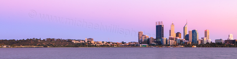 Perth and the Swan River at Sunrise, 29th February 2012
