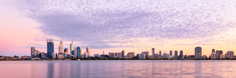 Perth and the Swan River at Sunrise, 4th March 2012
