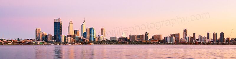 Perth and the Swan River at Sunrise, 6th March 2012