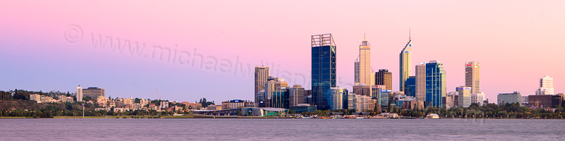 Perth and the Swan River at Sunrise, 9th March 2012