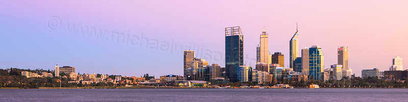 Perth and the Swan River at Sunrise, 15th March 2012