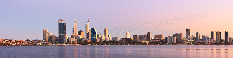 Perth and the Swan River at Sunrise, 17th March 2012