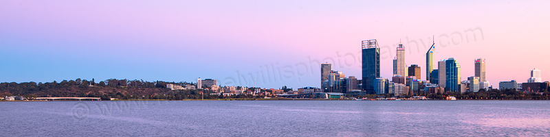 Perth and the Swan River at Sunrise, 28th March 2012