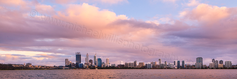 Perth and the Swan River at Sunrise, 3rd April 2012