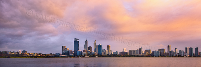 Perth and the Swan River at Sunrise, 5th April 2012