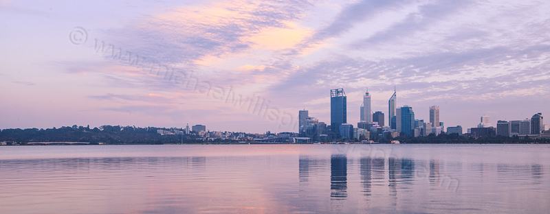Perth and the Swan River at Sunrise, 13th April 2012