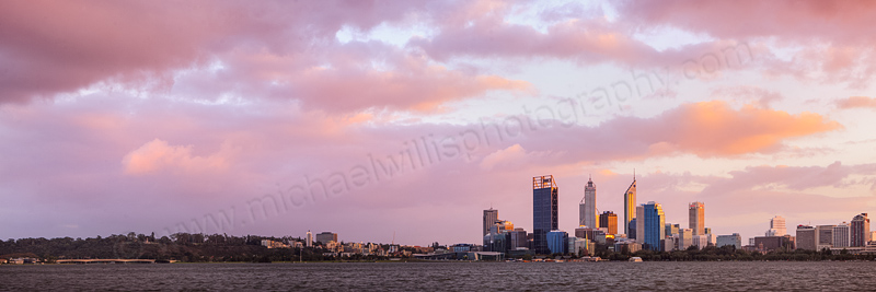 Perth and the Swan River at Sunrise, 8th May 2012